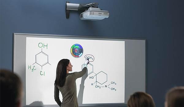como funciona un proyector interactivo