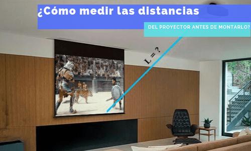 distancia del proyector
