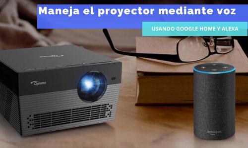 Cómo usar el proyector con Alexa y Google Home